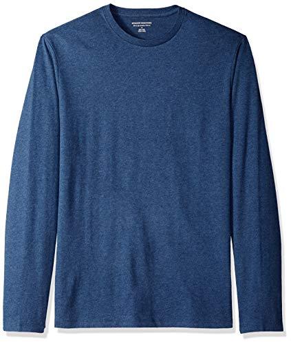 Amazon Essentials Slim-Fit Long-Sleeve T-Shirt w/o Pocket Fashion-t-Shirts, Azul Mezcla, M