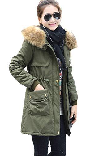 Dames winterjas Sale lange vrije tijd warm oversize Chic capuchon mantel met bontcapuchon Dagelijks losse trekkoord lange mouwen overgangsjas parker mantel