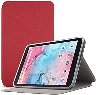 Dragon Touch Notepad Y80 ケース【LASTE】Dragon Touchタブレット 8インチ ケース 角度調整 キズ防止 軽量 タブレット カバー 全面保護 スリムフィット Notepad Y80専用 スマートカバー(赤)
