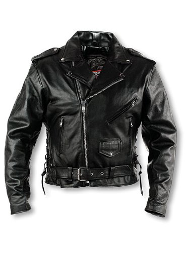 Interstate Leather Men's Classic Riding Jacket (Size 48)