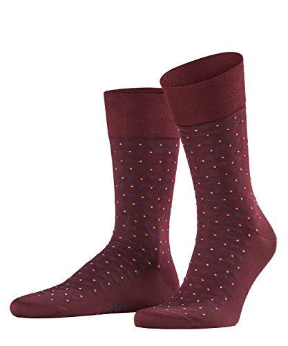 FALKE Herren Socken Sensitive Jabot, 80prozent Baumwolle, 1 Paar, Rot (Barolo 8596), Größe: 43-46