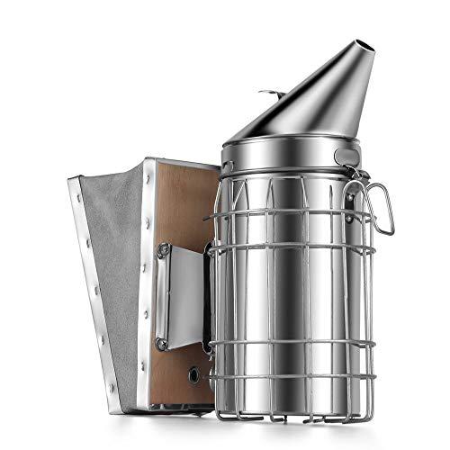 Kit de transmisión de humo de apicultura de acero inoxidable manual de abeja, herramienta de apicultura, herramienta de apicultura, pulverizador