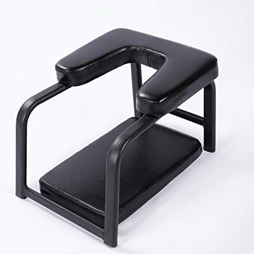 Yoga Inversion Bench Headstand Bench-Yoga Inversion Chair Ergonomic Design Soft Sturdy Yoga Headstand Chair Stool Yoga Exercise Practice Support Bench, for Strength Balance Training ( Color : Black )