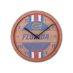 FOCO Florida Gators NCAA Barrel Wall Clock