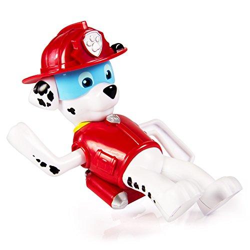 PAW PATROL – Paddlin' Pups – Marcus Nage – Figurine de Bain à Remonter Pat' Patrouille