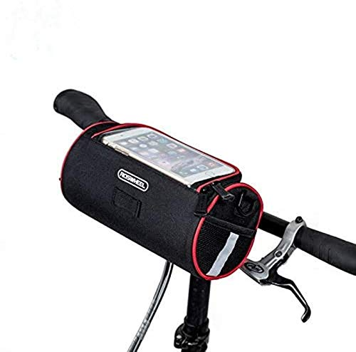 Roswheel Bike Basket Accessories Foldable Bicycle Bicycle Handlebar Bag Cycling Front Tube Bag Pannier Bike Map Phone Case Pouch
