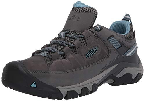 KEEN womens Targhee 3 Waterproof Hiking Shoe, Magnet/Atlantic Blue, 8.5 US