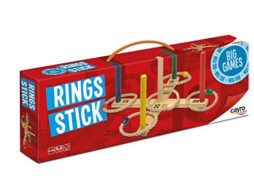 Cayro - Rings Stick - Juego de Lanzamiento de Anillas - Juego de Habilidad - Juego de acción y Reflejos - 147