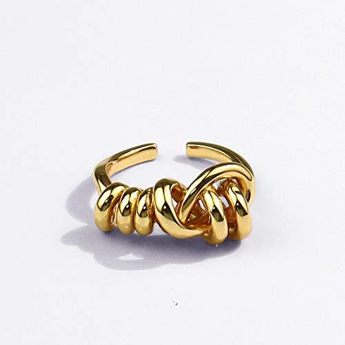 Xpccj Ringe Modeschmuck Ring Unregelmäßiges Gold verstellbar Ring Mädchen Großhandel Metallringe Schmuck & Accessoires (Hauptsteinfarbe: 01E)