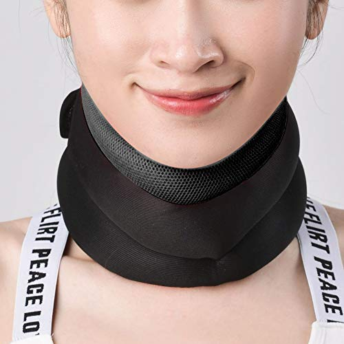 Soft Neck Support Belt Convenient Neck Traction Collar Durable for Correct Bad Posture for Adult for Relaxion for Relieve Cervical Fatigue(Black, One Size)