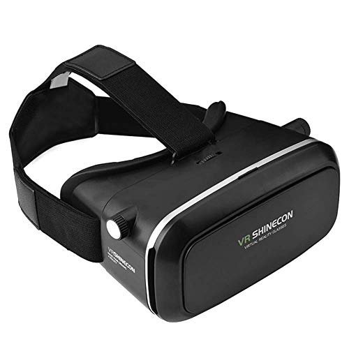 Duvet quilt VR Brille - VR-Headset für 4,7-6,0 Smartphones | Komp. zu Nexus, Samsung, Lumia, LG, Moto, HTC, Huawei, Sony inkl. Kopfhörer + QR Codes [FOV 120° | PD + FD | Android] - G01