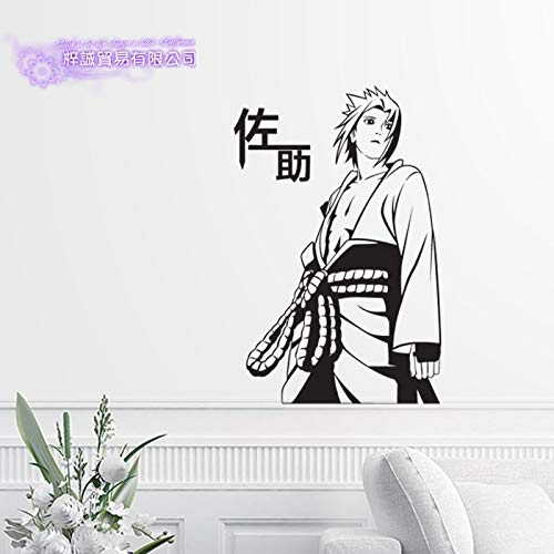 Anime Uchiha Sasuke Naruto Naruto Naruto Wandaufkleber Teen Schlafzimmer Wandtattoos Wohnkultur Anime 87x140cm