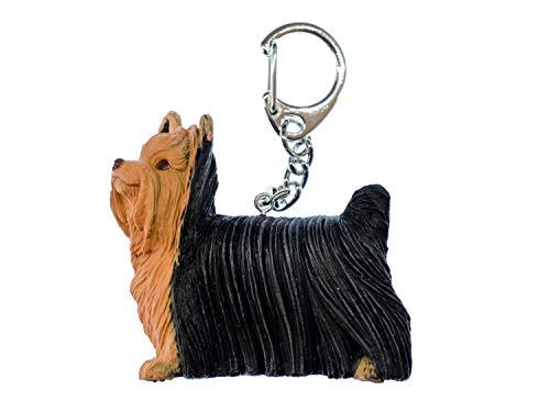 Miniblings Yorkshire Terrier Llaveros Perro Animal de companía - joyería Hecha a Mano de la Moda I I Colgante Llavero Llavero