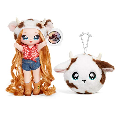 Na Na Na Surprise - Muñecas de Moda 2 en 1 Coleccionables para Niñas, Annabelle Moooshe, Bolso de Felpa Serie 3