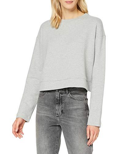 edc by ESPRIT Damen 110CC1J314 Sweatshirt, 044/LIGHT Grey 5, S