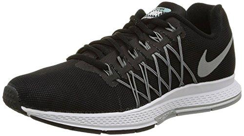 Nike Wmns Air Zoom Pegasus 32 Flash, Scarpe da Corsa Donna, Nero (Negro (Blck / Rflct Slvr-Pr...