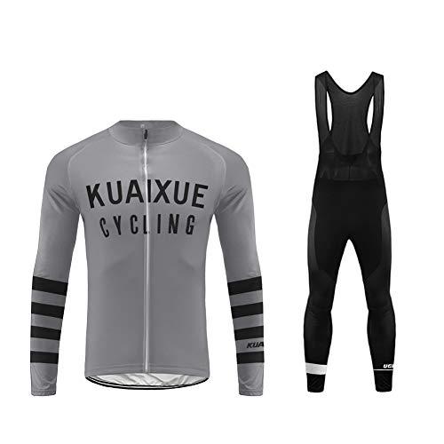 UGLY FROG Hombre Cycling Jersey Maillot Ciclismo Manga Larga Camiseta de Ciclistas Triatlón Ropa Ciclismo CXML05F