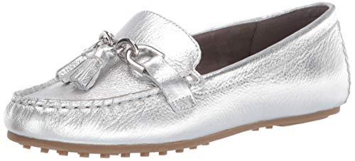 Aerosoles Women's Soft Driving Style Loafer, Silver Metallic, 9.5