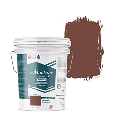 Montage Signature Interior/Exterior Eco-Friendly Paint, Brick Red - Low Sheen, 5 Gallon
