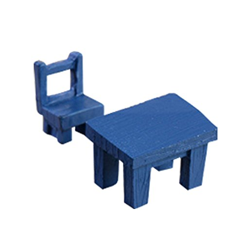 Preisvergleich Produktbild VI. Yo Miniaturen Fairy Kunstharz Garten Ornaments Möbel Mini Stuhl und Tisch für Puppenhaus Micro Landschaft Fairy Garden Ornaments Dekoration