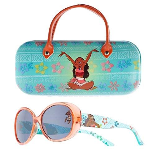 Disney Moana Kids Sunglasses with Matching Glasses Case and UV Protection