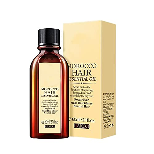 Multi-Functional Hair Essential Oil and Scalp Treatments Hair Care Moroccan Pure Hair Essential Oil Smooth and Thick Hair Easy to Carry Apply Hair Care Essential Oil (1pc)