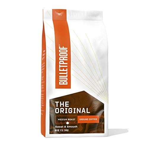 The Original Ground Coffee, Medium Roast, 12 Oz, Bulletproof Keto Friendly 100% Arabica Coffee, Certified Clean Coffee, Rainforest Alliance, Sourced from Guatemala, Colombia & El Salvador