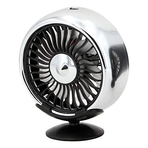 Beautymei KFZ Ventilator Ventilator Lüfter Ventilator Multifunktion Elektrischer Ventilator USB-Schnittstelle Auto kleiner elektrischer Ventilator für Auto Klimaanlage Steckdose grau