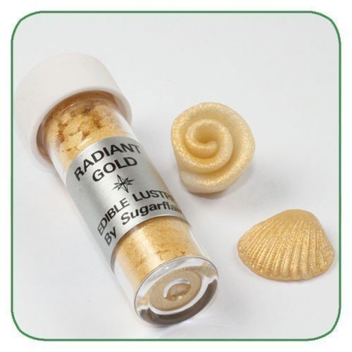 Sugarflair - Glanz-Puder, Radiant Gold, 7ml.
