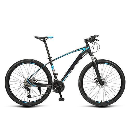 ndegdgswg 27 velocità 27,5 Pollici Mountain Bike, Freno a Disco Olio Lega di Alluminio Leggera velocità Variabile Doppia Bicicletta Ammortizzante 27.5inches 27speedlinediscblackblue