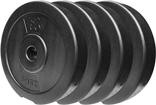 Giovane Weight Plates 10kg (2.5kg x 4) for Home Gym PVC Filled with Concrete Set for Strength...