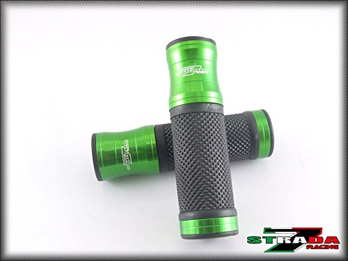 Strada 7 Racing CNC Aluminum Hand Grips Green For Kawasaki ZX1400 / ZX14R