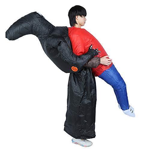 Lantro JS Nadmuchiwany kostium, nadmuchiwana odzież na Halloween, kostium halloweenowy zabawny kostium cosplay na Halloween dla dorosłych lub dzieci (czarnka przytula ludzi X131)