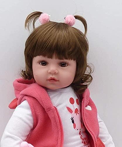bambola vera Scnbom Bambino Giocattoli 19 Pollici 49 cm Reborn Bambole Femmina Morbido Silicone Che sembrano Veri Bambola Baby Dolls