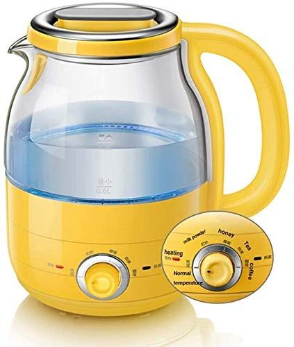 Bouilloire induction Bouilloire électrique en verre avec épargne automatique et isolation thermique Kettle 1.2L Mini Distributeur de lait en acier inoxydable en acier inoxydable WHLONG