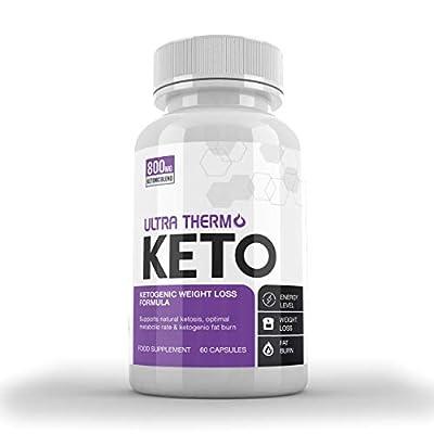 Ultra Thermo Keto KETOGENIC Weight Loss Formula - Keto Capsules for Men & Women - Burn Body Fat & Weight - Keto Diet - Raspberry Ketones Extract