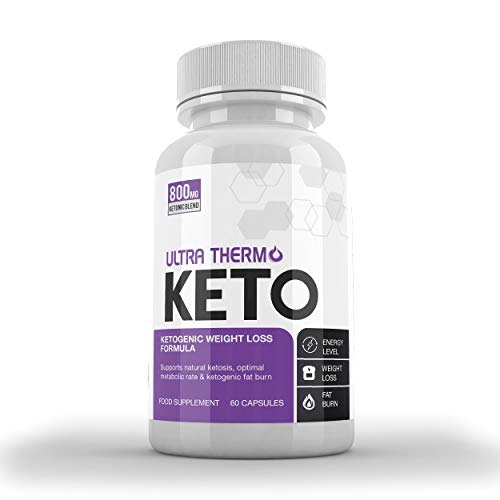 Ultra Thermo Keto KETOGENIC Weight Loss Formula - Keto Capsules for Men & Women - Burn Body Fat & Weight - Keto Diet - Raspberry Ketones Extract