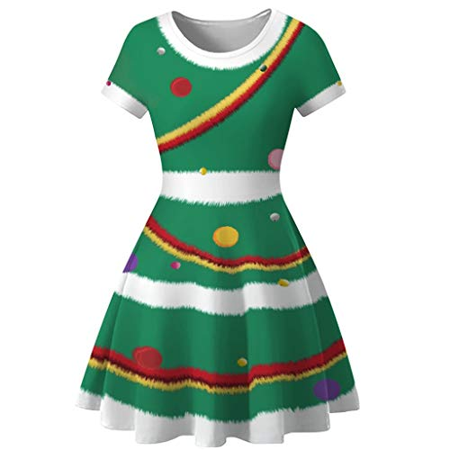 SoeHir Women Snowman Christmas Red 1950s Notes Print Vintage Costume Swing Party Dress