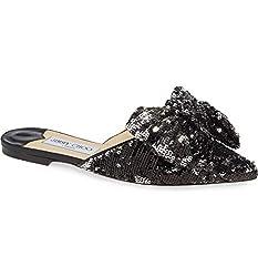 Georgia Sequin Bow Mule Shoes Size 37