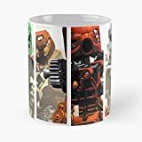 Desconocido Videogames Deathgrips Anime Manga Bionicle Vapor Grips Games Death Wave Best Mug Holds Hand 11oz Made from White Marble Ceramic