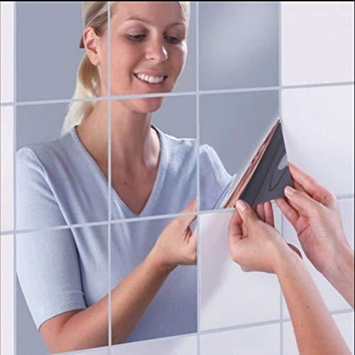 QINDONG Espejo Adhesivo de Pared Combinación de decoración Extraíble Mirrortype Pet (Paquetes múltiples)