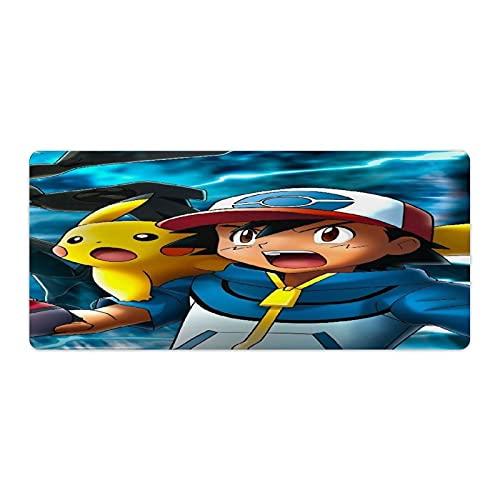 Alfombrilla de ratón para juegos de Pokémon con bordes cosidos duraderos, alfombrilla de ratón para esports Pros/Office