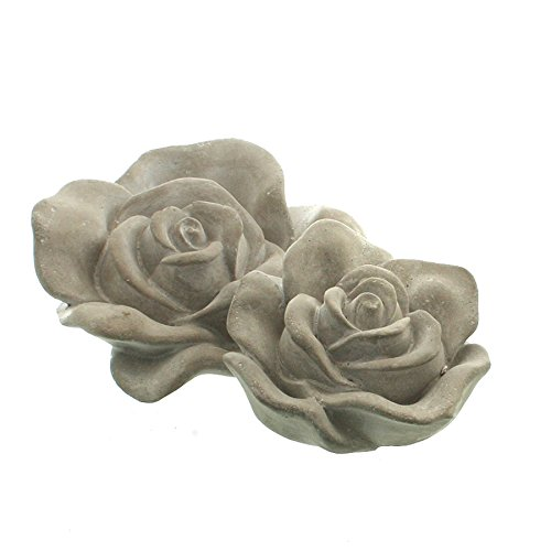 Zementrose LISE - Rosenblüte - Dekoblüte - Gartendeko - Rose (16 x 6 cm)