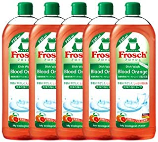 《セット販売》 旭化成 フロッシュ Frosch 食器用洗剤 ブラッドオレンジ つめかえ用 (750mL)×5個セット 詰め替え用