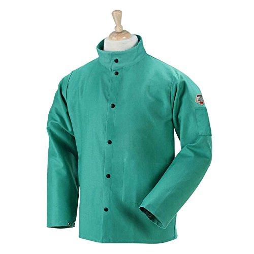 "Revco Black Stallion F9-30C 36"" 9oz. Green FR Cotton Welding Jacket, X-Large"