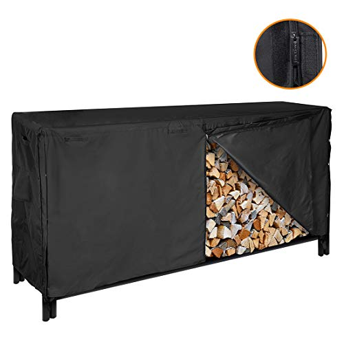 Purchase VIVOHOME 8-ft Waterproof Log Rack Cover, Heavy Duty 600D Oxford Outdoor Firewood Storage Co...