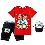 XINXIN 2021 Vlad Niki Ropa para Niños Pequeños Camiseta De Manga Corta De Algodón De Verano + Pantalones Cortos Conjunto De 2 Piezas Conjunto De Pantalones Y Tops para Niñas