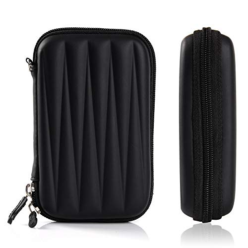 Alexvyan Multi-Purpose Semi-Rigid Shock-Proof Large Case for Earphone, JBL Go Speaker Wi-fi Hotspot 3G/4G USB Dongle, Mobile Charger, Power Bank, Hard Disk, Pen Drives, SD Memory Cards (Black)