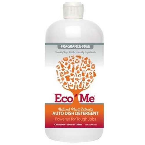 Eco-Me Dish Soaps Auto Dish Detergent, Fragrance-Free 32 fl. oz. (a) - 2pc