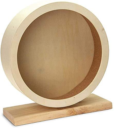 ZLYY Rueda de ejercicio para hámsters, juguete de madera de hámster, rueda amortiguadora divertida, nido para hámster, jerbos, ratas, ratones, M